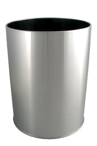 LDR 164 6400BN Ashton Waste Basket, Brushed Nickel (Metal Wastebasket Industries)