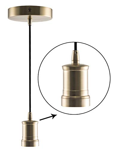 Antique Gold Pendant Light in US - 9