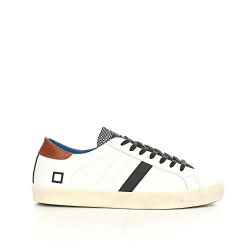 D.A.T.E... - Uomo Hill Low Pop White-PDP Scarpa Sneakers in Pelle Bianco - 27603 Bianco