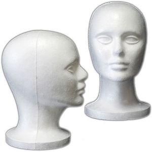 (6 Pack) Styrofoam Model Heads w/
