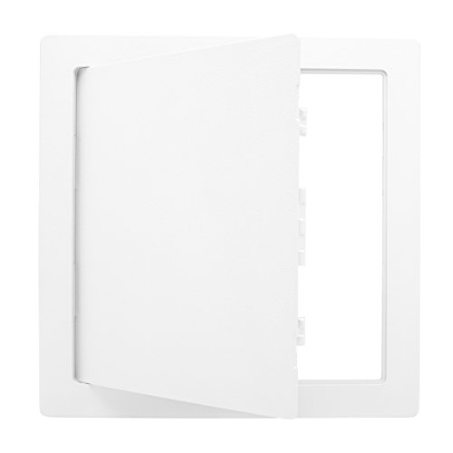 (Morvat Plastic Access Panel 12 X 12, Access Door for Drywall, Access Panel for Drywall, Wall Access Panel, Plumbing Access Panel, Heavy Durable Plastic, White)