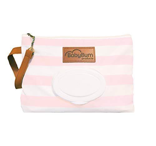 Diaper Clutch – Water Resistant; Lightweight; Refillable Wipes Case (Glossy Soft Coral)
