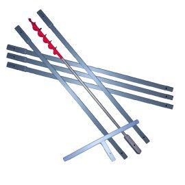 50 mm Erdbohrer verlängerbar  HIER  in 1.1m, 3m, 6m, 8m, 10m, 12m Länge … (** z.B. 6m **)