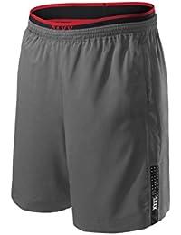 "Saxx Underwear Men's Kinetic 2N1 Train 8"" Athletic Short with Ballpark Pouch"