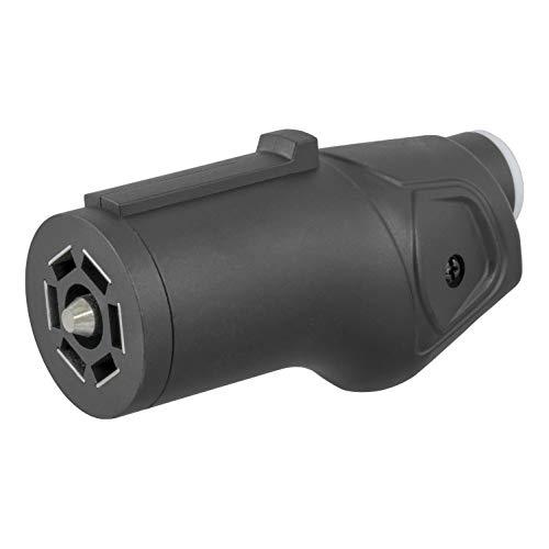 CURT 58145 Heavy-Duty Trailer-Side RV Blade 7-Way Trailer Wiring Harness Connector, 7 Pin Trailer Wiring