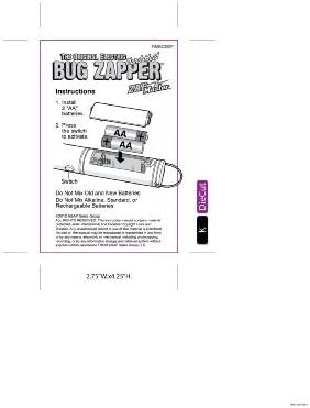 Amazon.com: Zap Master The Original - Raqueta eléctrica de ...