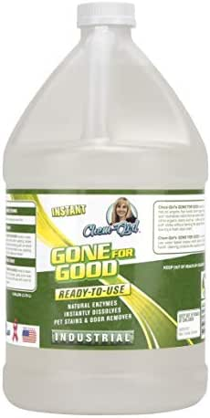 Chem-Girl | GONE FOR GOOD | Profesional Enzymatic Urine & Stain Remover | Eliminates Strong Dog & Cat Odor | Great for Carpets, Rugs, Pet Beds | Industrial Grade | Enzyme Neutralizer Spray | 1 Gallon