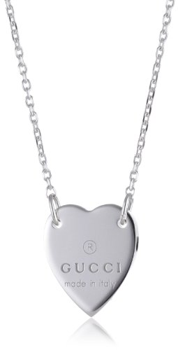Gucci Necklace Trademark Heart Pendant in Sterling Silver Ybb223512001