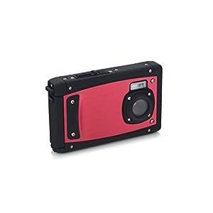"""Coleman C40WP-R 20 Mega Pixels Waterproof Underwater Digital Camera with Full 1080p HD Video, 2.5"""" LCD & 8x Digital Zoom, Red"""