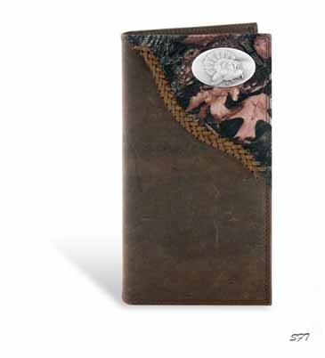 Turkey Leather Roper Secretary Wallet Camo