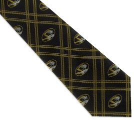 Missouri Tigers Checked Woven Poly Tie