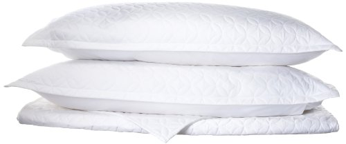Tuscany Fine Linens (Tuscany Fine Linens Livorno Beechwood Modal Quilted Coverlet Set, White, Queen Oversized)
