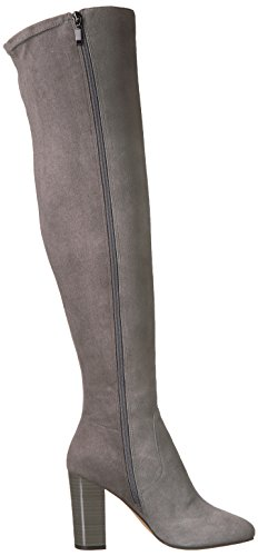 Heel Over Boot Boot Fix elephant grey Women's Lyndsey The The Block Knee Ht0qnZw