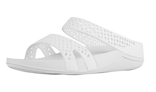 Fitflop Welljelly Z-slide Sandals - Sandalias con tacón Mujer Off-White (Urban White)