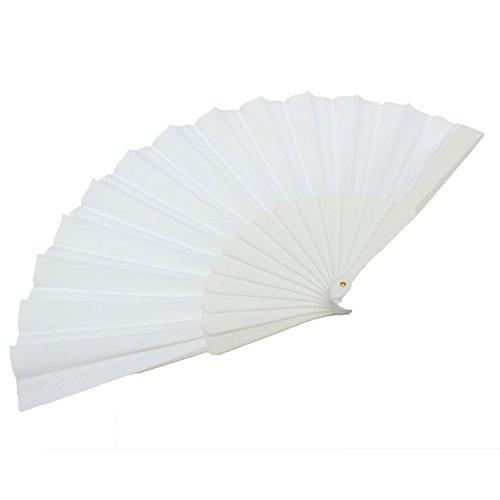 Olibay Solid Color Handheld Folding Fan Vintage Hand Fan