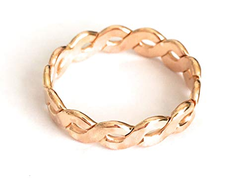 Thumb Ring | Gold Fill Big Braid | Wide Finger or Thumb Ring | Sizes 7-12| Made in USA (8.5)