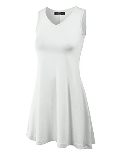 Made By Johnny WT827 Womens Sleeveless V Neck Dress Top XXL White by Made By Johnny (Image #6)
