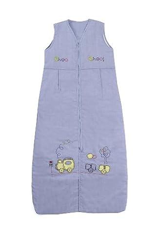 Slumbersafe Summer Toddler Sleeping Bag 1 Tog - Choo Choo, 18-36 months/LARGE - Buon Compleanno Applique