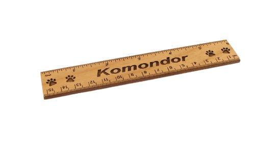 - Komondor 6 Inch Alder Wood Ruler