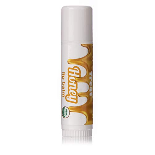 TREAT Jumbo Lip Balm, Organic & Cruelty Free (.50 OZ) (Honey) (Lip Real Honey Balm)