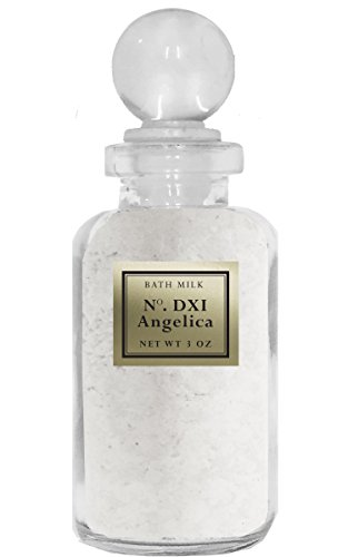 BIOS Apothecary Sweet Cream Bath Milk Powder - Angelica (3 oz) - Smoothes and Softens Skin - Enhanced with Angelica and Sandalwood Essential Oils- Collectible Vintage Apothecary Bottle with Glass Stopper