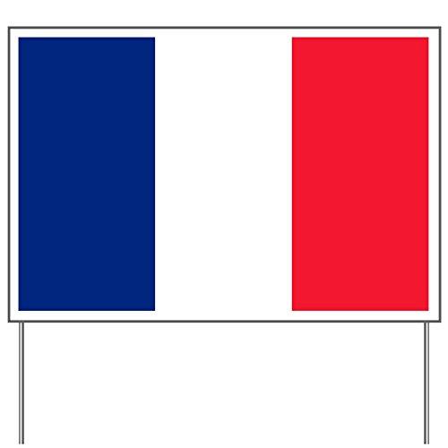 (Yard Sign Flag of France)