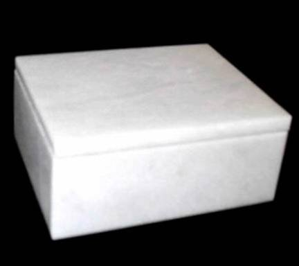 Khan Imports White Marble Pet Urn Box Cat, Small Dog Ashes, Stone Pet Cremation Urn - up to 14 pounds ()