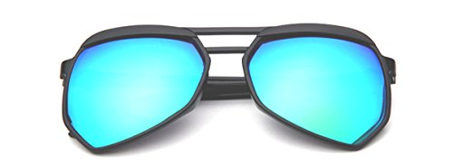 Rodeo Jacks New Oversized Unisex Modern Aviator Wayfarer Style Sunglasses (Oil Slick, - Modern Slick Glasses