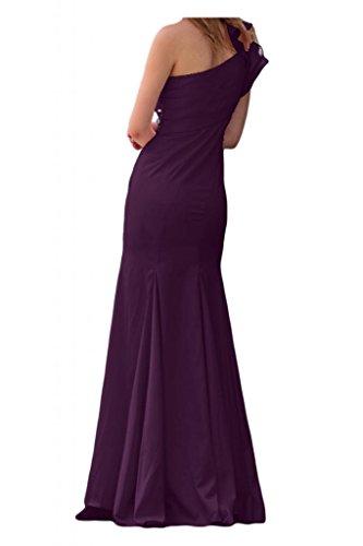 La novia de la Toscana Mermaid un-hombro de elegancia por la noche al largo vestidos de satén Prom vestidos de bola Traube