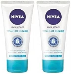 Nivea Pure Effect Total Face Cleanup 150 ml - 2 pk