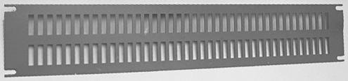 PVSA19003LG2 - Panel, Slotted, Vent, 2U, Aluminium, Grey, Standard 19 Racks, 89 mm, 483 mm (Pack of 2) - Panel Slotted 2u