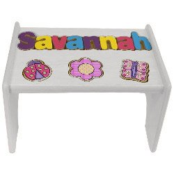 Awesome Amazon Com Personalized Puzzle Step Stool For Kids Garden Pdpeps Interior Chair Design Pdpepsorg
