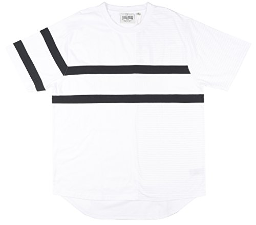 Jewel House Vertical Block Mens T-Shirt in White