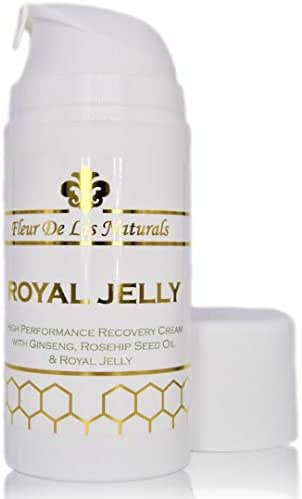 Royal Jelly - All Natural High Performance Anti-Aging Face Moisturizer & Hand Cream for Skin Rejuvenation, 3.38 oz