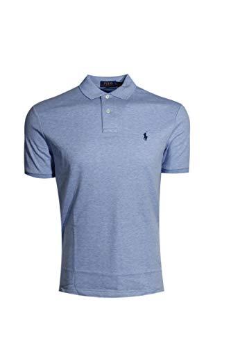 RALPH LAUREN Rlaph Lauren Men's Interlock Medium Fit Polo Shirt (S, Jamaica Blue/Navy Pony) (Gestreift Polo Ralph Lauren)