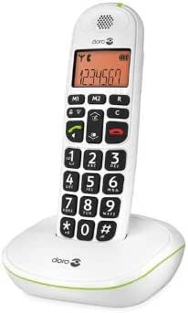 Doro Phone Easy 100W - Teléfono fijo inalámbrico con teclas extra grandes, color blanco (importado): Amazon.es: Electrónica