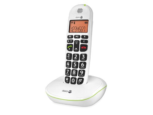 teléfono portátil blanco teclas muy grandes