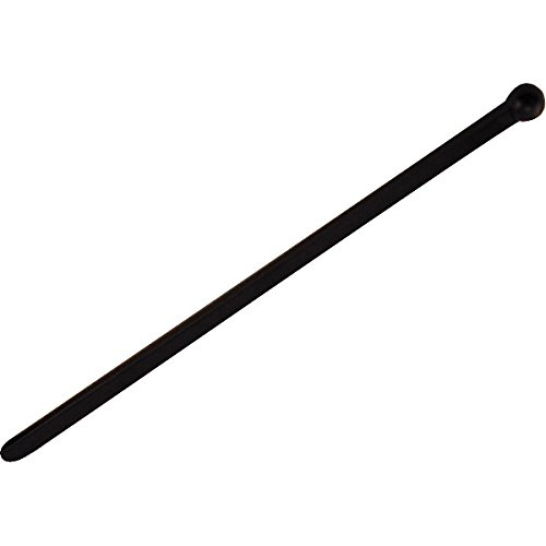 6'' Flat Black Plastic Cocktail Stir Sticks - Box of 500
