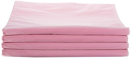Medline Sofnit 300, Pack of 4 Large Washable Pink Underpads, 34'x36' for use with incontinence, reusable pet pads, reusable bed pads, great for dogs, cats, and bunny