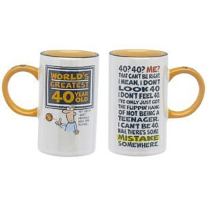 Worlds Greatest 40 años Old macho de café/taza de porcelana ...