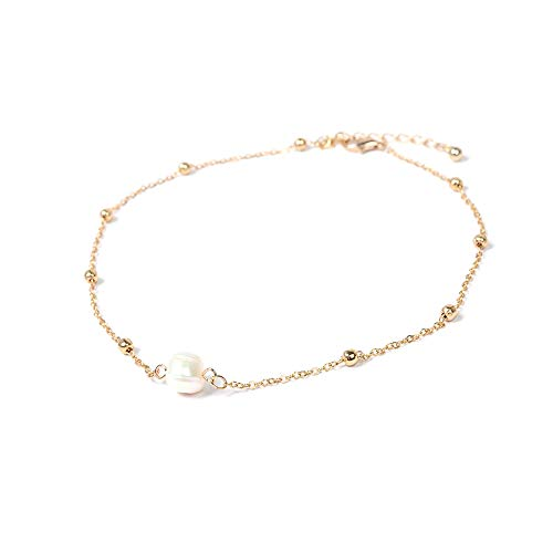 Artilady Freshwater Pearl Choker Necklace Gold Chain Necklace for Women Jewelry ()