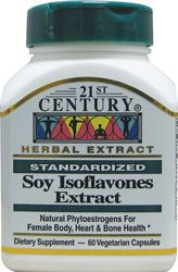 Soy Isoflavones Extract, Standardized, 60 Veggie ()