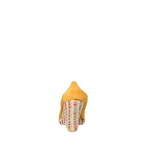 CALPIERRE cuñas mujer amarillo gamuza AG725