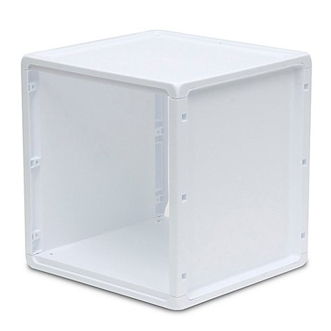 Plastic Storage Cube in White