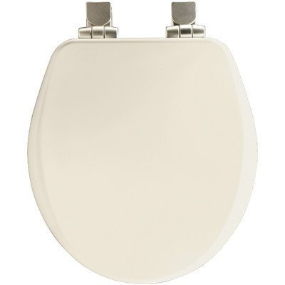 Bemis 7B9170NISL 346 Round Closed Front High Density Molded Wood Toilet Seat with Cover, Biscuit by Bemis