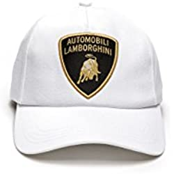 LAMBORGHINI Basic Shield Hat Bianco Isi