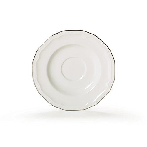 Antique White Teacup - Mikasa Antique White Platinum Saucer, 6.5-Inch