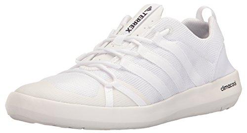 adidas Outdoor Men's Terrex Climacool Boat Water Shoe, White/White/Black, 11 M US