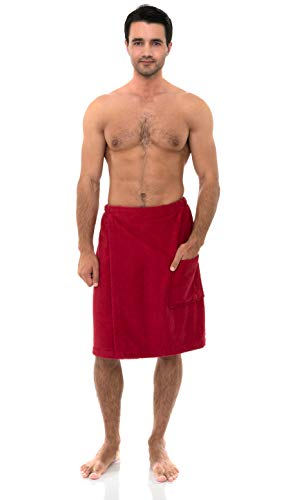 Skirt Terry Wrap - TowelSelections Men's Wrap, Shower & Bath, Terry Spa Towel Large/X-Large Chili Pepper