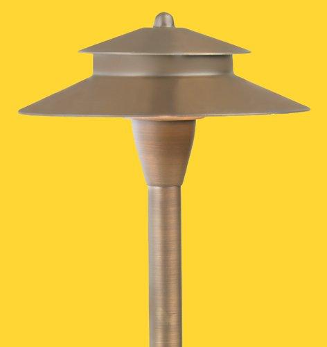 Corona CL-645B-AB -Low Voltage/ 12V Area Light Brass Double Umbrella, Antique Bronze